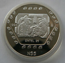 MEXICO 5 PESOS 1994 PROOF PP DINTEL