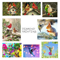 Birds Owl Full Drill DIY 5D Diamond Embroidery Painting Cross Stitch Kit Decor