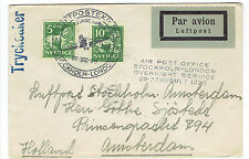 1928 LUFTPOSTEXP. Nr4 STOCKHOLM TO LONDON OVERNIGHT SERVICE REGISTERED COVER