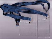 10x Trasparente Flexible ID Badge Portadocumenti and 15mm Lacci:10 Colori