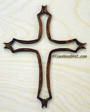 Traditional Christian Cross, Wood Cross, for Wall Hanging or Ornament, Item S4-9