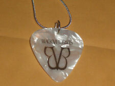 "hand made necklace.. guitar guitar pick Black Viel Brides18 "" sterling Silver"