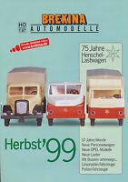 0003BRE Brekina Automodelle 1:87 Prospekt  Herbst 1999 brochure model cars