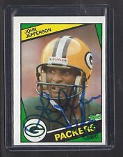 1984 PACKERS John Jefferson signed card Topps #268 AUTO Autographed Green Bay