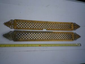 BIG PAIR of Original, Vintage French Ormolu Finger Plates, Antique, brass, ref 3