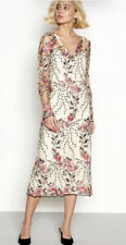 💜 Vila Virina Flower Embroidered Mesh Midi Dress Size S 10/12 New Tags