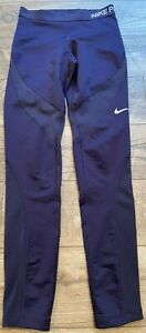 NIKE driFIT Pro hyperWARM Tights Purple Athletic Running Pants wmns Small 803094