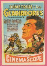 Spanish Pocket Calendar #255 Demetrius And The Gladiators Film Poster Vic Mature