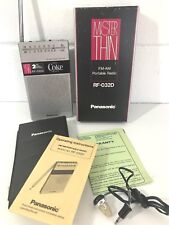 Vintage rare COKE Transistor AM/FM Radio MISTER THIN RF-032D Walkman NEW MR NIB