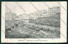 Roma Frascati Stazione Treno cartolina QK4091