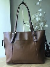 Tignanello cognac saffiano leather medium handbag tote bag