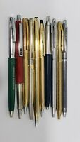 Lot of 10 Vintage Collectable Ballpoint Pens, Cross, Parker, Chromatic & Elysee