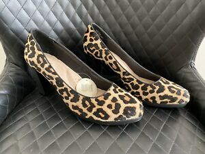 Bnwt Leopard Animal Print Heels Pumps By Hush Puppies Size 12