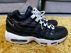 ☆ Vgc Womens Black & White Nike Air Max 95 Essential trainers size 5 EU 38.5 ☆