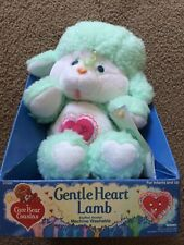 Vintage Care Bears Cousins Stuffed Plush 1985 Gentle Heart Lamb Kenner Toy 80s