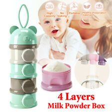 4 Layers Baby Milk Powder Dispenser Container Storage Formula Feeding Box Case