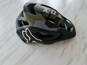 Fox Racing Speedframe Pro Helmet Green Camo Mips Helmet New MTB Bike Medium Size