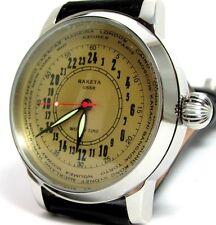 Raketa World Time Wrist Watch 24hours  Russian Military Mechanical