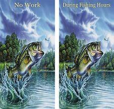 Bass Fishing Cornhole Game Board Baggo Bean Bag Toss 3M Vinyl Wrap Set