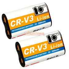 2* CR-V3 CRV3 Rechargeable Battery for Olympus C-170 C-3040 C750 Camedia E-20