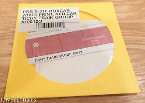 Tichy Train Group O #10012O PRR X-31F Boxcar White Print, Red Car