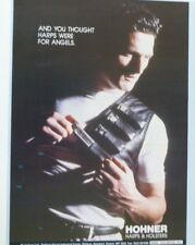 vintage magazine advert 1989 HOHNER harps / mouth organs