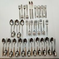 Vtg Delco stainless flatware KIMBERLY pattern Lot of 47 pieces Silverware Oneida