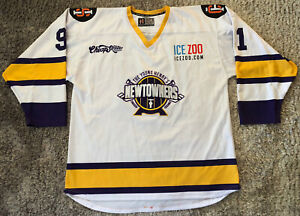 048 Young Henrys Newtowners Ice Hockey Jersey #91 Huo Mens Size 54 Australia VGC
