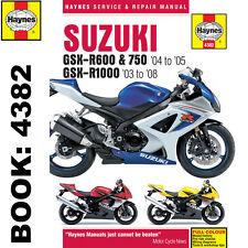 Suzuki GSX-R600 GSX-R750 2004-05 GSX-R1000 2003-08 Haynes Workshop Manual