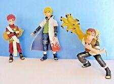 "Shonen Jump NARUTO~ Lot of 3 PVC Action FIGURES 4-4.5"" SAND GAARA- Mattel"