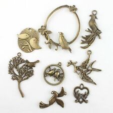 24x 142817 New Charms Antique Bronze Assorted Birds Alloy Pendants Findings