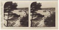 Nice Baie Dei Angeli Foto Stereo Stereoview di Carta Analogica Vintage
