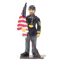 AMERICANA Civil War UNION FLAG BEARER Painted Metal 1/32 Toy Soldier FREE SHIP