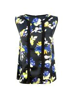 NEW Ex COAST Black Floral Sleeveless Party Blouse Top Size 10 - 18