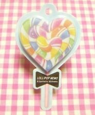 KAMIO JAPAN / Lollipop Colorful Heart Die-cut Memo Cute Candy Package