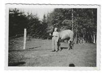 Foto, Soldat in Uniform, Pferd