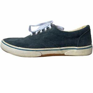Margaritaville Men's size 8 M BOARDWALKER Blue Canvas Boat Shoes Casual Lace Ups