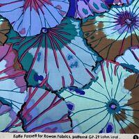 """Kaffe Fassett for Rowan Fabric Lotus Leaf GP29 Floral Leaf Print 1yd 42x36"""""""