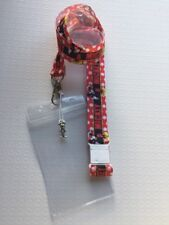 Disney Lanyard Mickey Mouse ID PassHolder With Charm And Safety Clip *UK Seller*