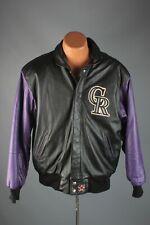 Vtg Men's 1990s Colorado Rockies Jh Design Leather Jacket Sz Medium 90s #7613