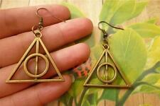 Deathly Hallows Alloy Handmade Dangle Harry Potter Earrings Gift Favor Mystery