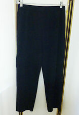 EXCLUSIVIELY MISOOK BLACK SILKY STRETCH KNIT SLIM LEG CASUAL PULL-ON PANT LN PS