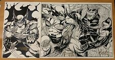 Wolverine Sabertooth Comic Art Prints Hand Signed by Dire Wolf