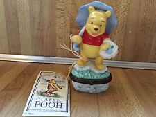 Pooh Porcelain Hinged Box APRIL Months Collection 1990s MIOB Disney Catalog