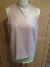 Wonderful Dorothy Perkins Pink and Silver Sparkly Top UK Size 12