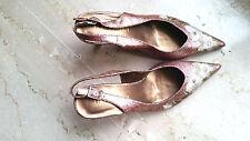 scarpe donna sexy 36 37 38 39 40 punta tacco decolte gold shoes kitten sandali