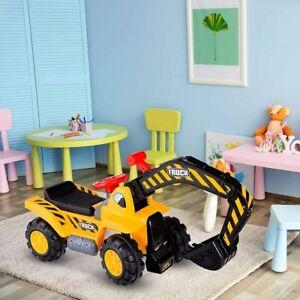 Sitzbagger Rutscher Kinderspielzeug Sandbagger Hupe Kippschutz Stauraum