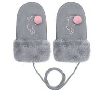 Toddlers Winter Mittens Hand Warmer Lovely Children Cartoon Soft Wool Gloves New