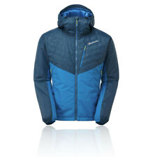 Montane Mens Prism Jacket Top - Blue Sports Outdoors Full Zip Hooded Warm