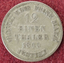 Hannover Twelfth of a Thaler 1845 B (E2505)